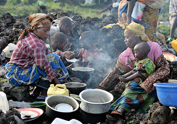 Cooking in DRC