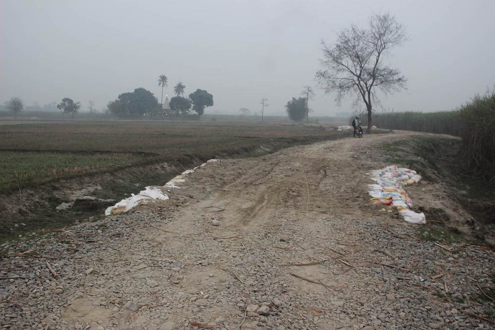 An agricultural road after upgrades