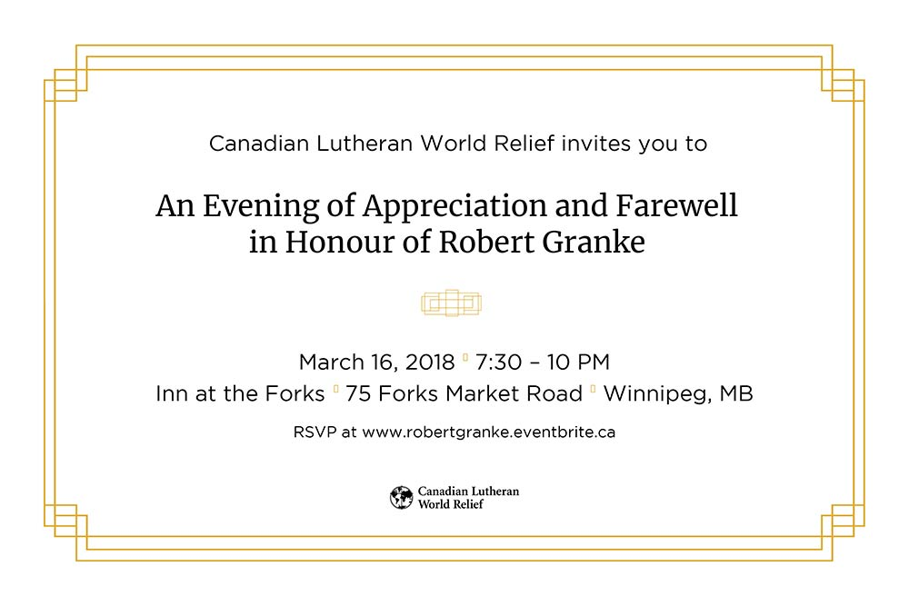 Robert Granke farewell