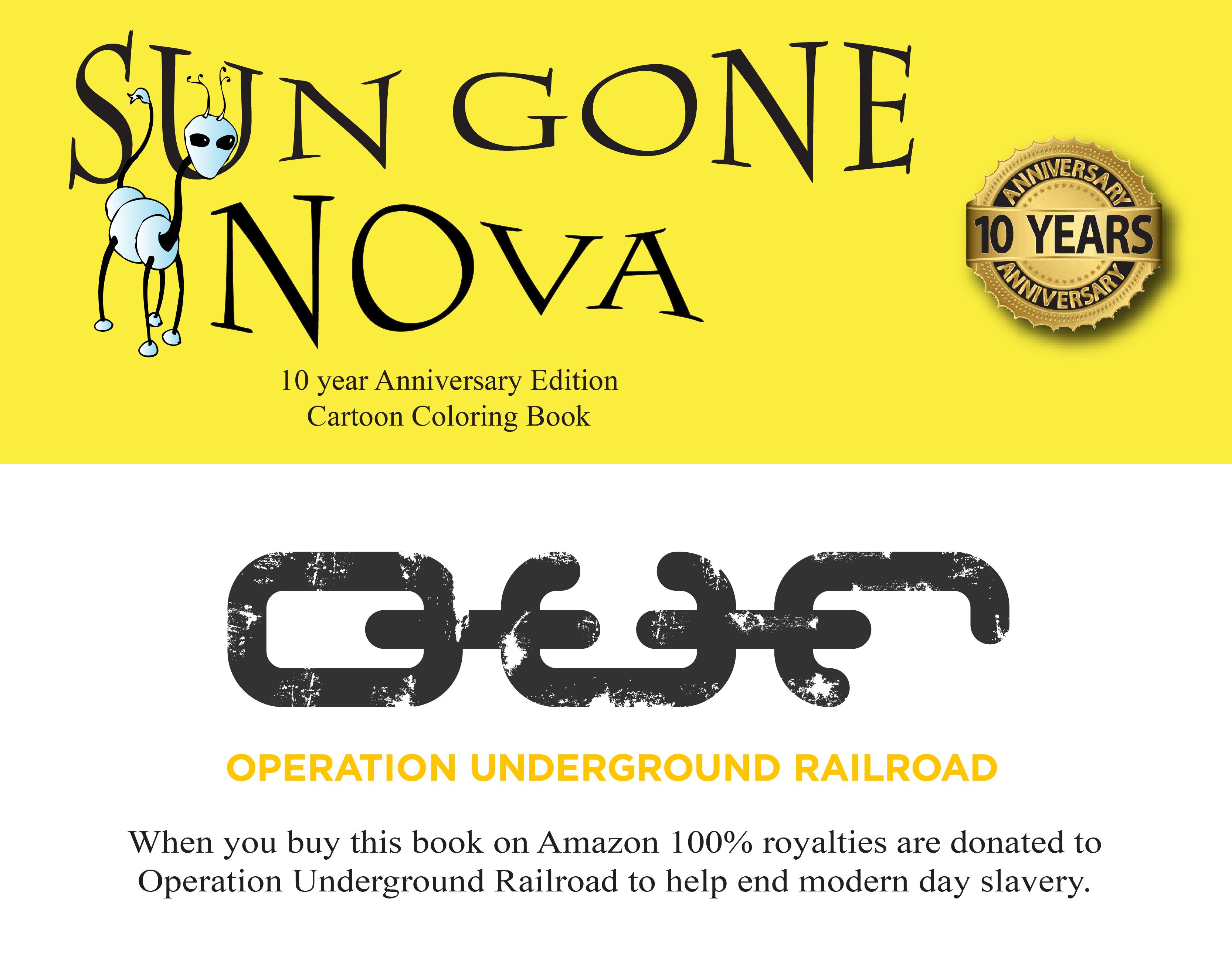 Sun Gone Nova Coloring Book Fundraiser