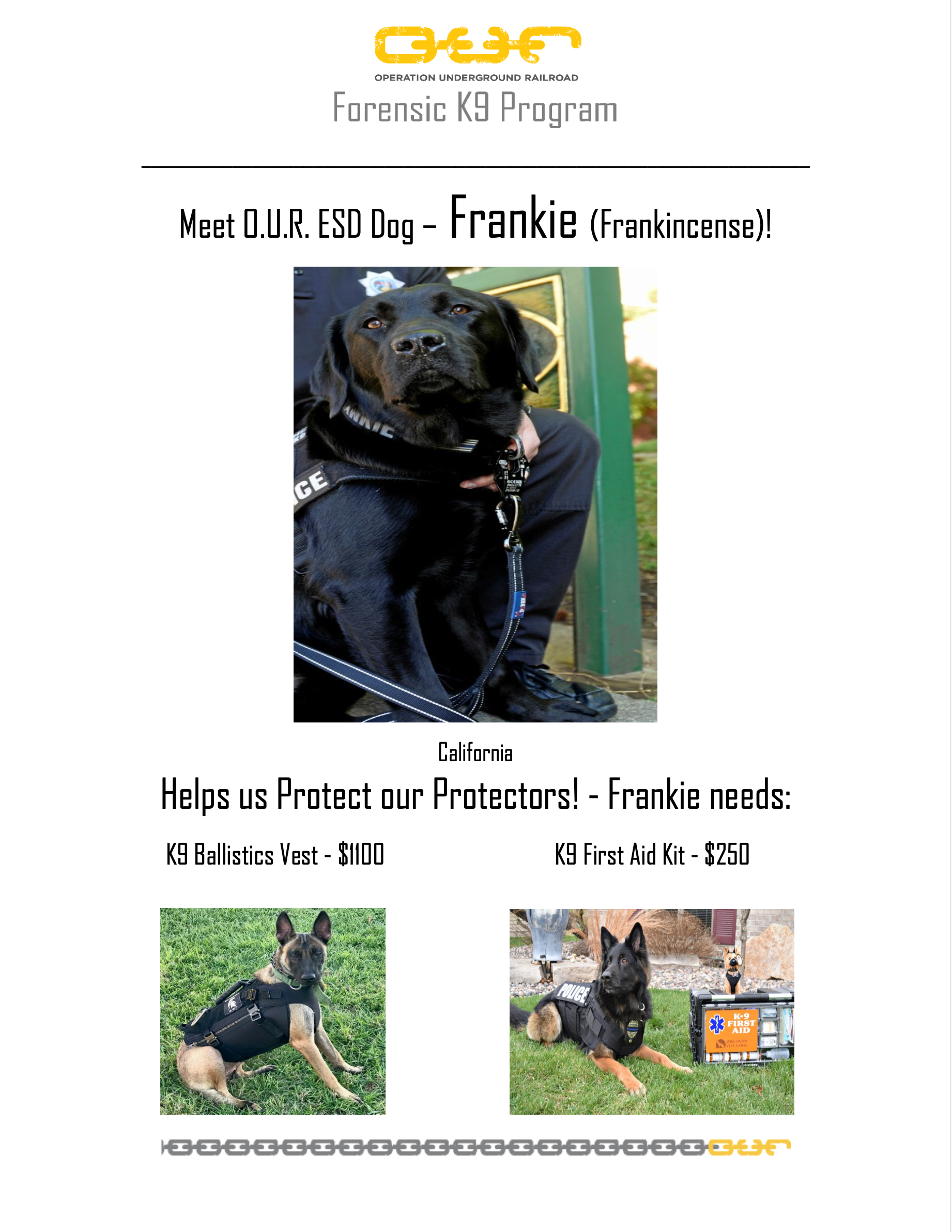 Protect Frankie-Frankincense - Fairfield California