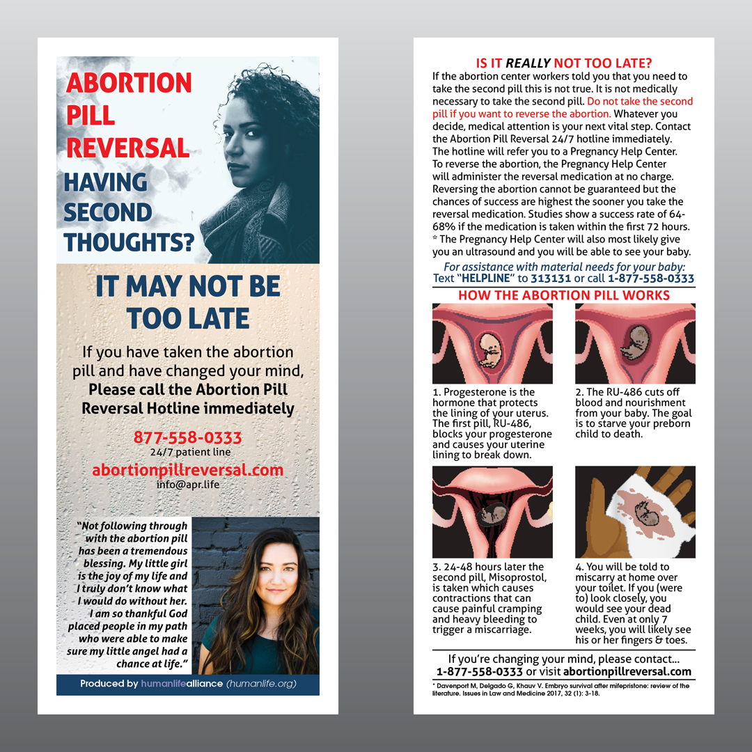 Abortion Pill Reversal Fact Card Human Life Alliance