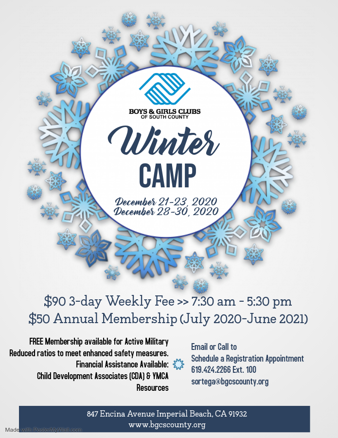 Winter Day Camp 2020