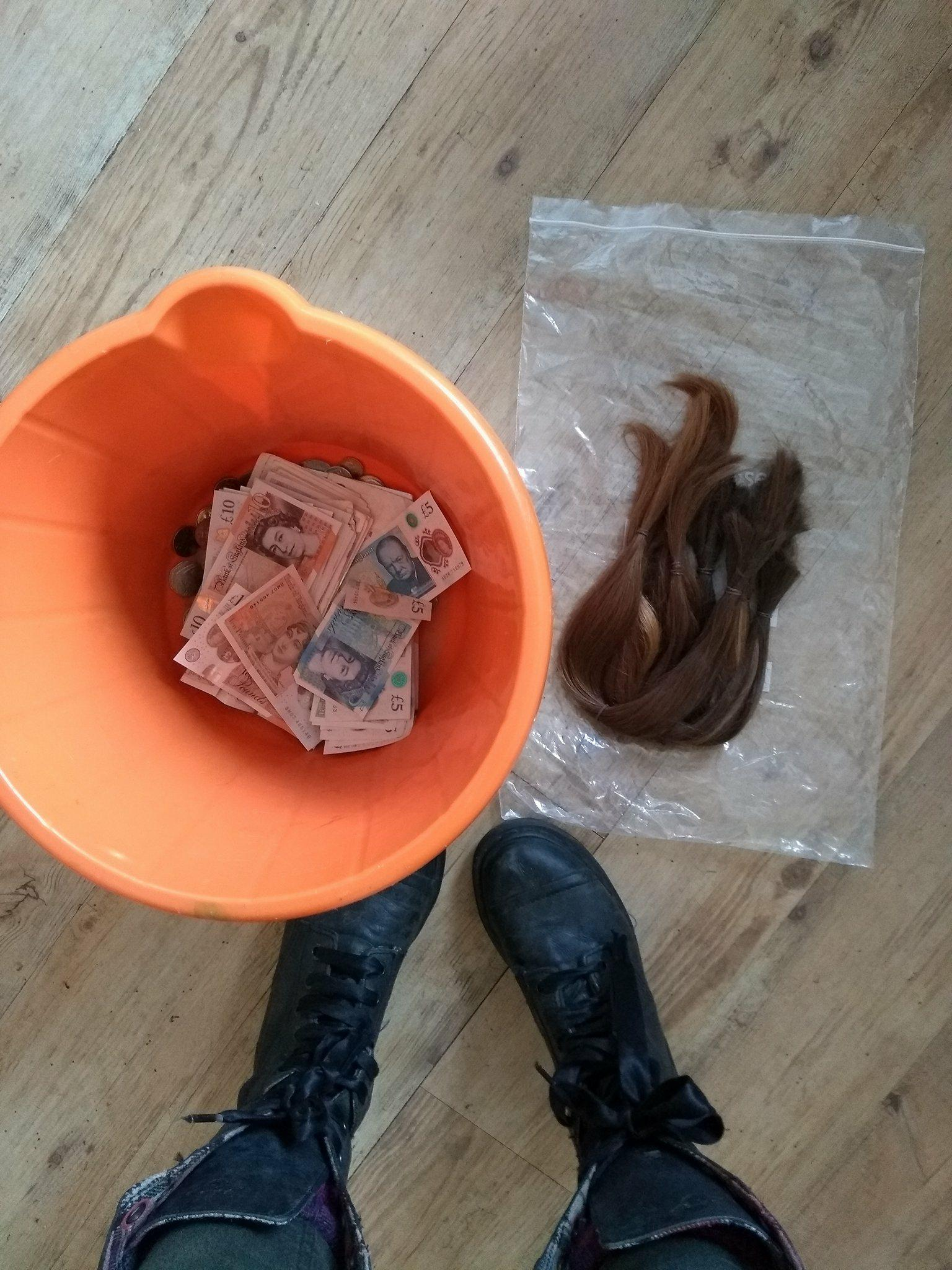 Cash raised at head shave