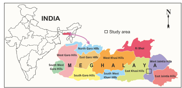 Map of India for KH blog