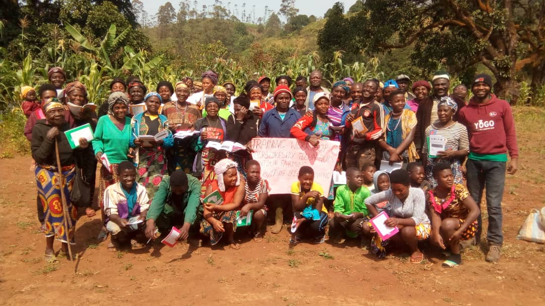 Participants during training workshop on agroforestry contour farming etc in Mmuockmbie in Nov. 2018 2