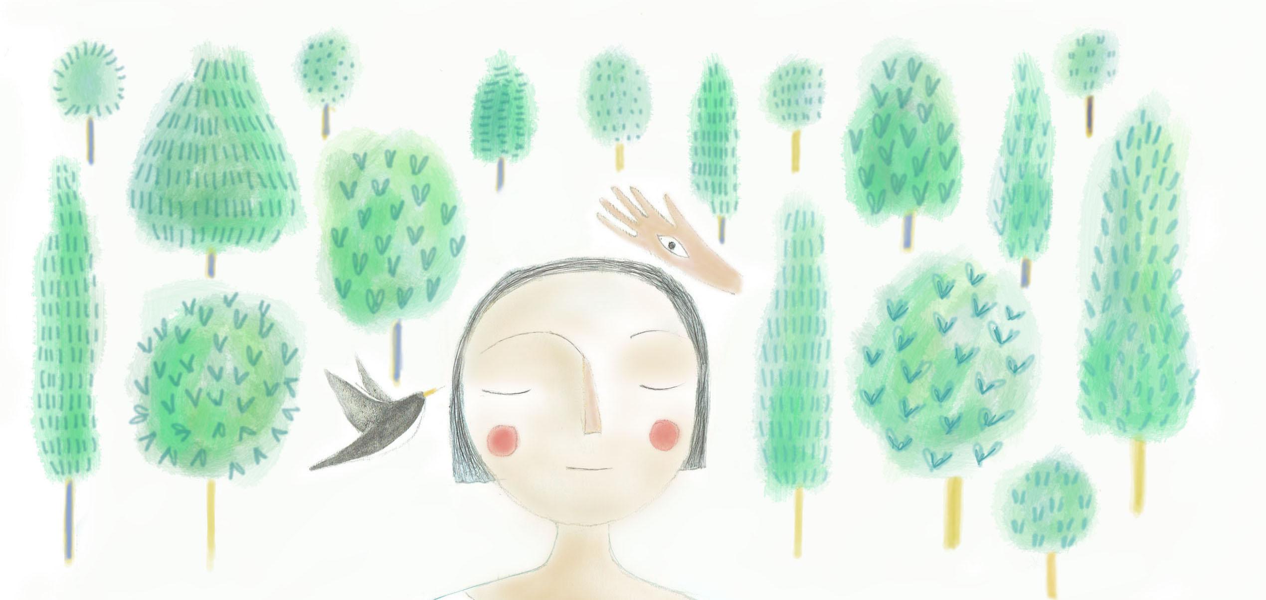 Illustration Forest Fundraiser