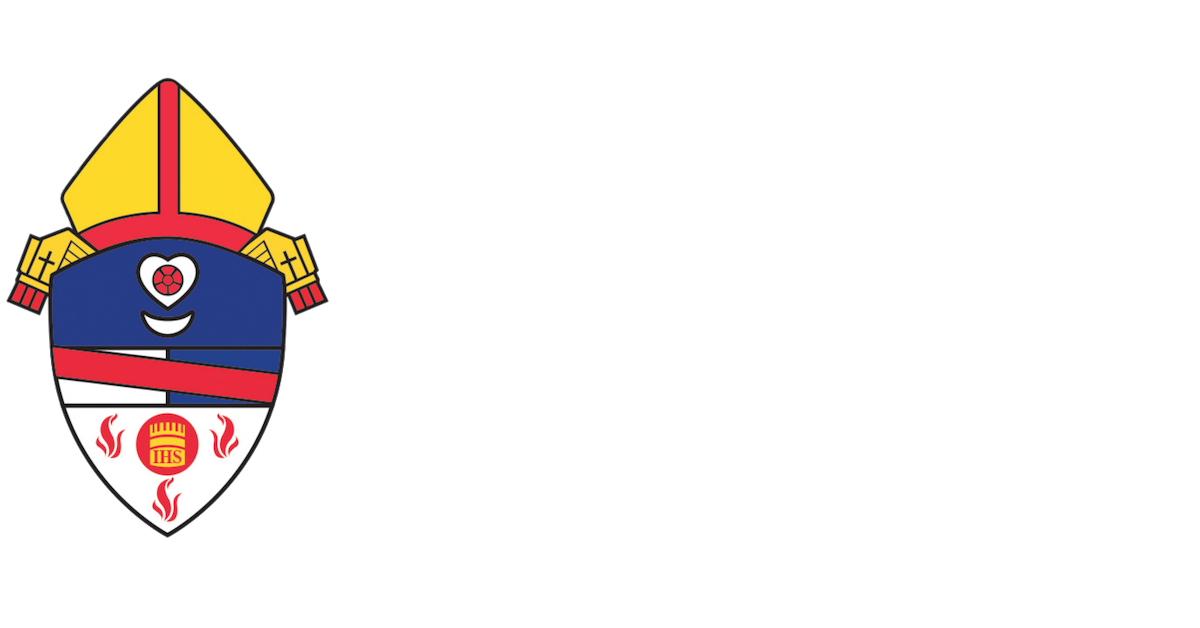 Diocese of Steubenville shield white lettering