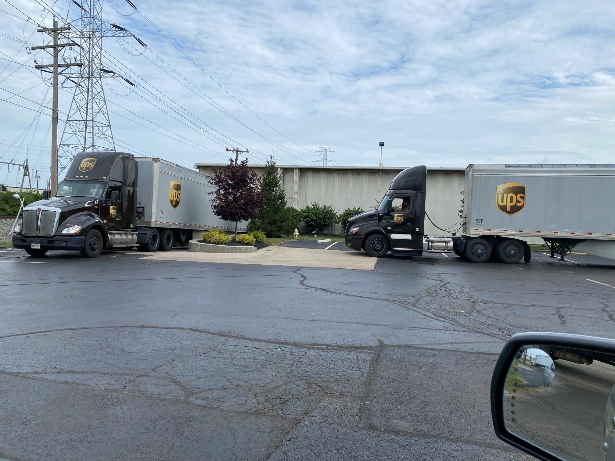 Loading UPS trucks with supplies in Cincinnati, OH