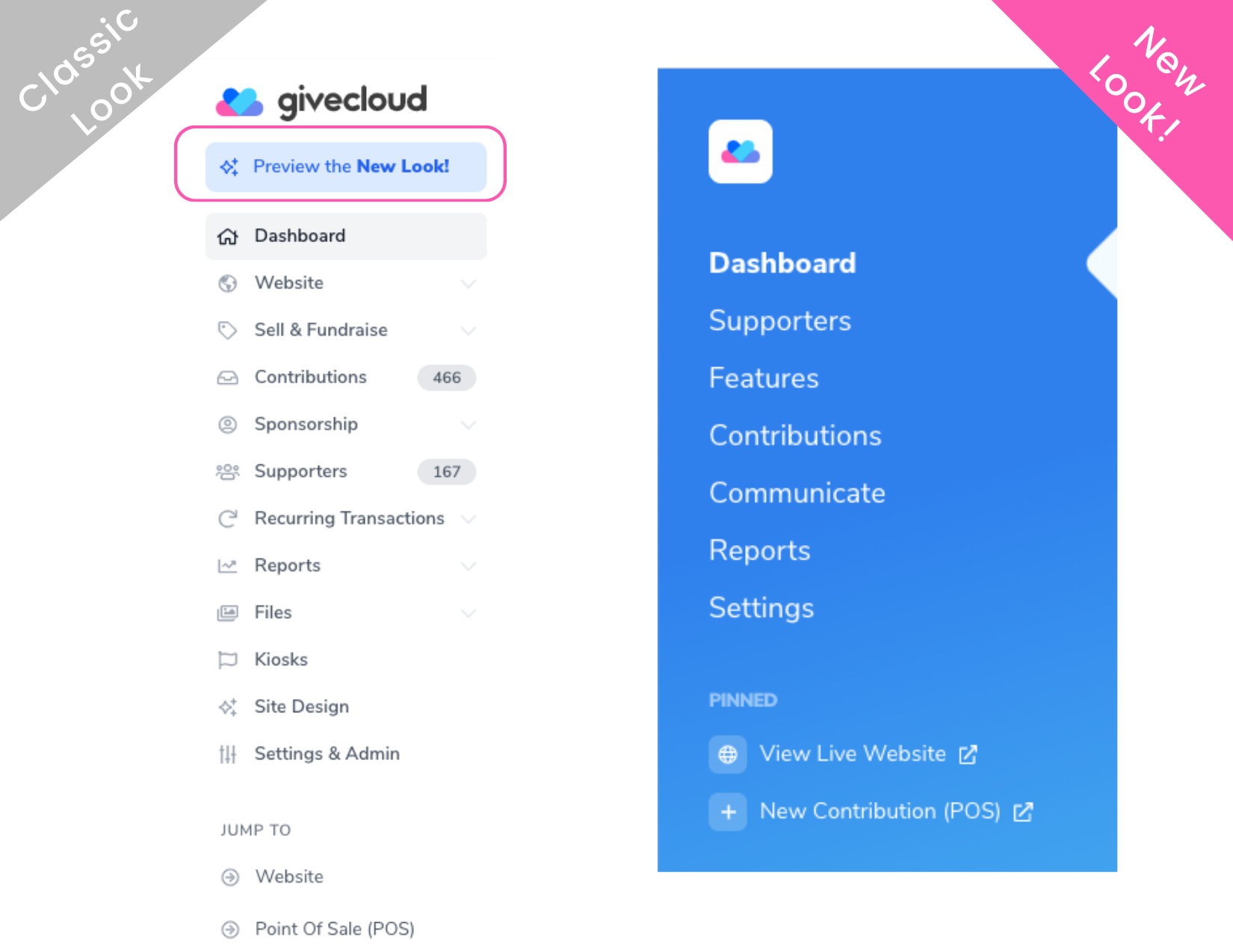 Givecloud's New UI Design