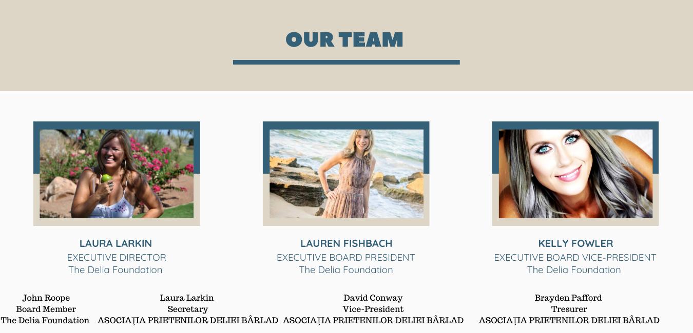 Delia Foundation Team