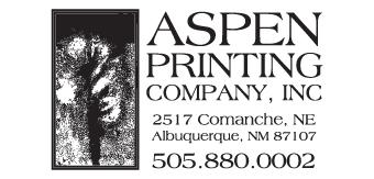 Aspen Printing Company logo Doggie Dash & Dawdle 2020 Animal Humane New Mexico