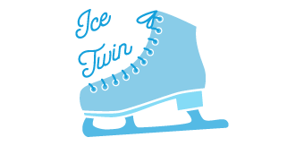 Ice Twins Skating logo Doggie Dash & Dawdle 2020