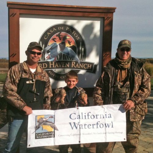 Successful youth hunter at Bird Haven Ranch