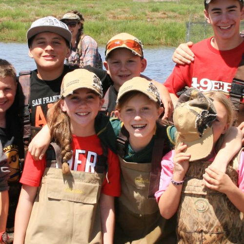 Children at California Waterfowl Hunter Conservation Camps