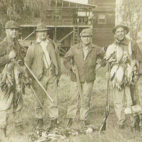 Photo of oldtime duck hunters