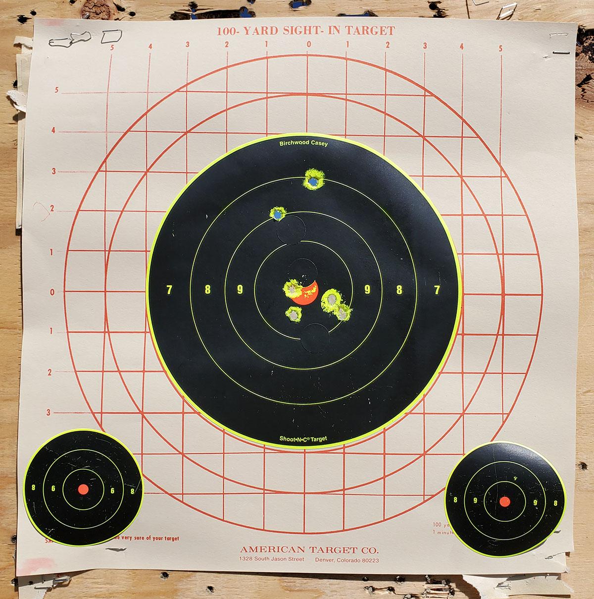 Bullet holes in a target