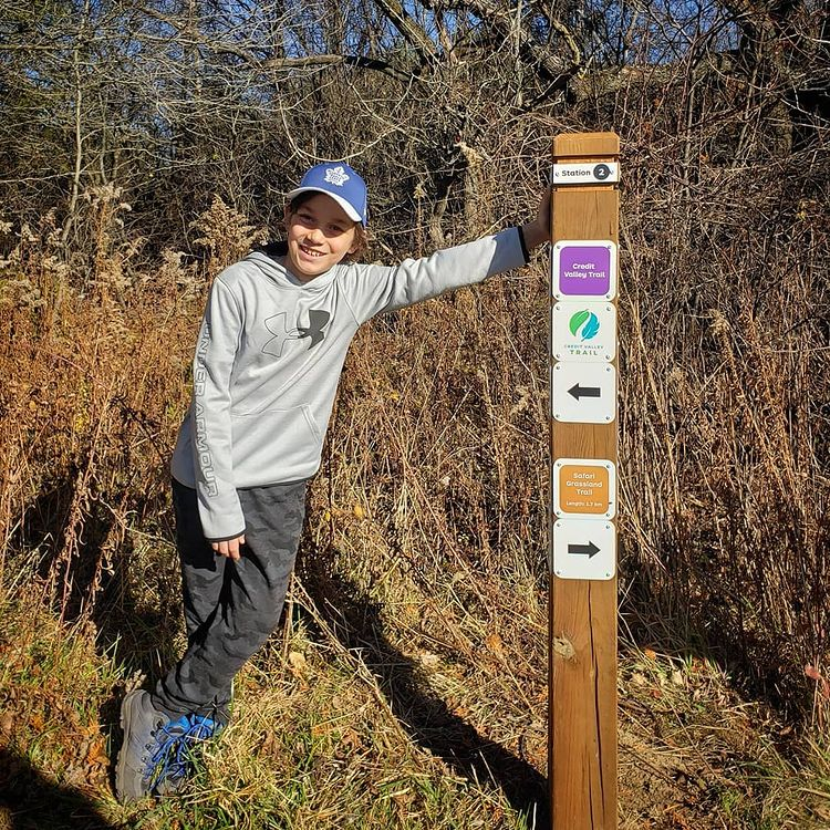 Luke Hiking the Credit Valley Trail at Upper Credit Conservation Area
