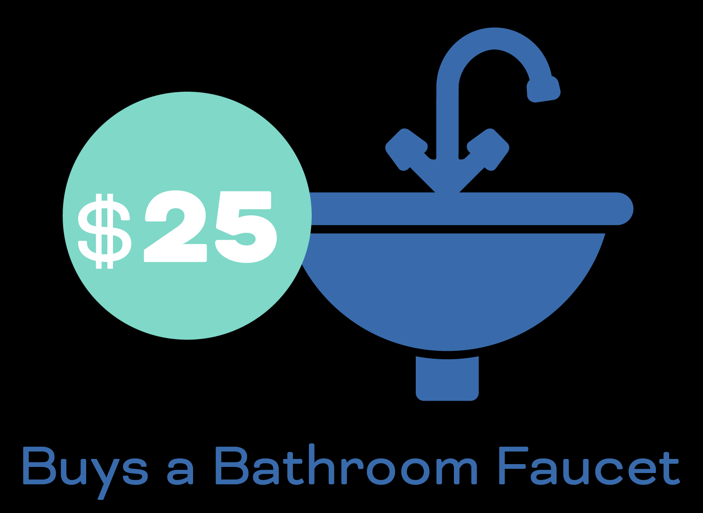 $25 buys a bathroom faucet
