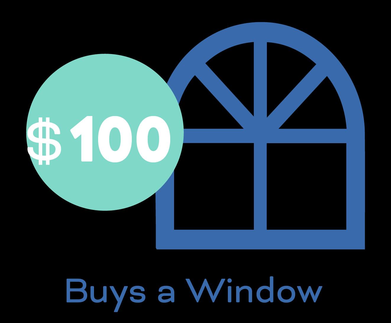 $100 buys a window.