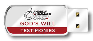 God's Will Testimonies (USB)