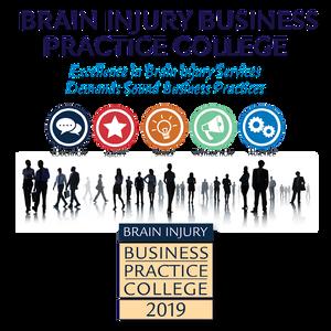 Brain Injury Business Practice College 2019 – Meeting Handout Advertisement