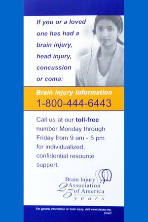 National Brain Injury Information Center Tear-Off Pad