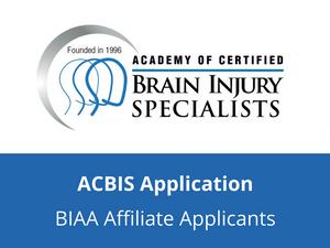 ACBIS Application (BIAA Affiliate Applicants)