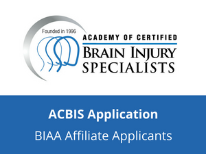 ACBIS Application (BIAA Affiliate Applicants)