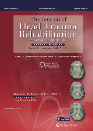 Journal of Head Trauma Rehabilitation Subscription - Available when Renewing ACBIS Certification