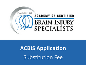ACBIS Application Substitution Fee