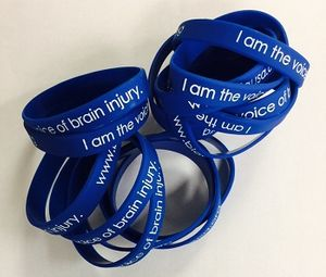 NEW! Blue Silicone Wristbands