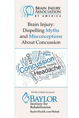 Brain Injury: Dispelling Myths and Misconceptions About Concussion - Brochure