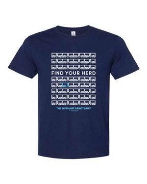 Find Your Herd Adult T-Shirt (Navy)