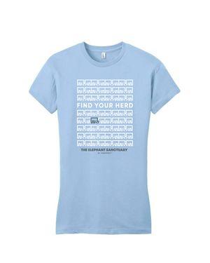 Find Your Herd Women's T-Shirt (Ice Blue)