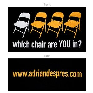 Four Chairs T-Shirt - Black or Grey