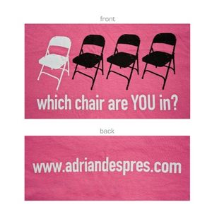 Four Chairs T-Shirt - Pink