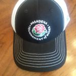 Cap - BLACK and WHITE Embroidered with Tournament of Roses Logo