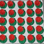 Embroidered Stick-on Roses