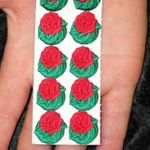 Sticker - Embroidered Stick-on Roses
