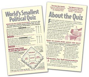 Deluxe Quiz - postcard size