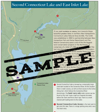 Downloadable Map: Second Connecticut Lake and East Inlet Lake