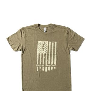 Freedom Flag Green Tee