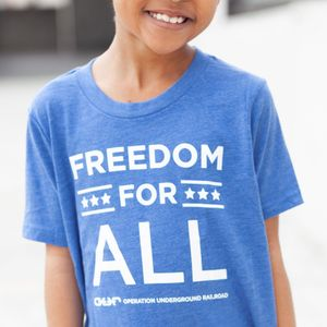 'Freedom For All'  Youth Tee- Blue