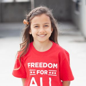 'Freedom For All'  Youth Tee- Red