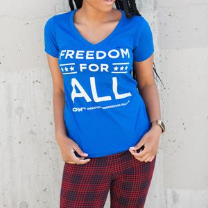 'Freedom For All'  Women's Tee- Blue