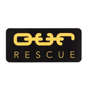 O.U.R. Sticker - Black/Yellow