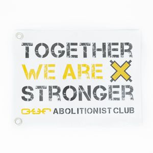Abolitionist Club Flag- White