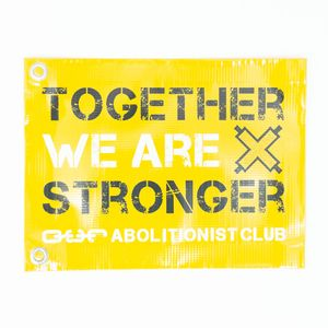 Abolitionist Club Flag- Yellow