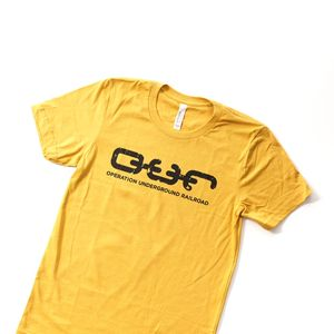 'Students Against Trafficking' Tee - Mustard